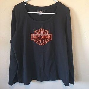 Harley Davidson Long Sleeve Plus size Shirt Sz 1W